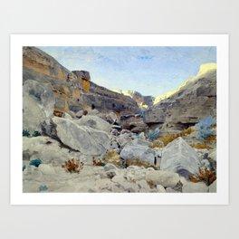 Adolf von Meckel Landscape in Sinai Art Print