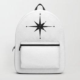 black 8 point star Backpack