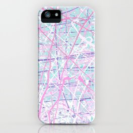 Flight of Color - pink turquoise iPhone Case