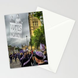 Modern day suffrage Stationery Cards
