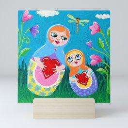 Babushka Garden by Soozie Wray Mini Art Print