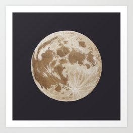 Moon Portrait 5, Linen Moon Art Print