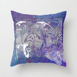 Fantasy Florals Throw Pillow