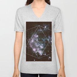 Galaxy Sacred Geometry dark Unisex V-Neck