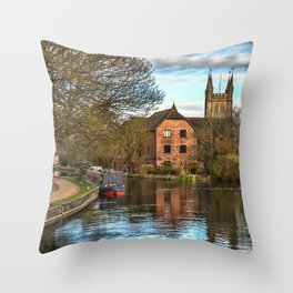 The Kennet and Avon at Newbury Throw Pillow