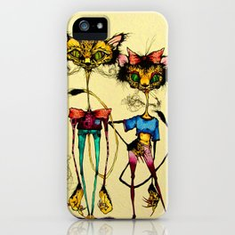 Kit and Kitty iPhone Case