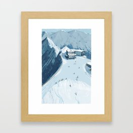 Skiing in Austria Framed Art Print