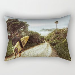 Surfer Boy, Cardiff, California Rectangular Pillow