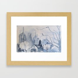 Blue Scape Framed Art Print