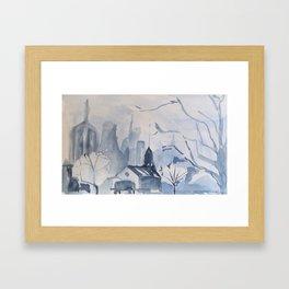 Blue Scape Framed Art Print