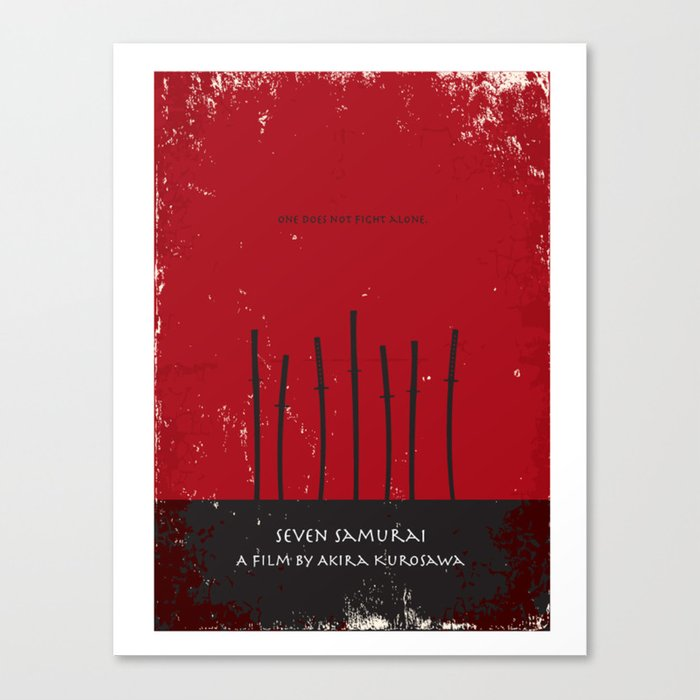 SEVEN SAMURAI CANVAS PRINT PICTURE WALL ART VARIETY OF SIZES