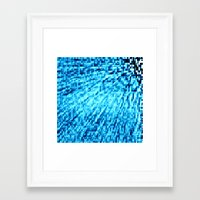 turquoise Framed Art Prints featuring TURquoise Pixel Wind by 2sweet4words Designs