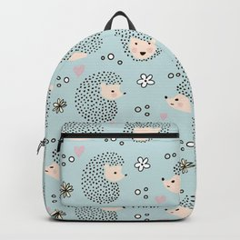 So Many Happy Little Hedgehogs To Hug Pattern Backpack