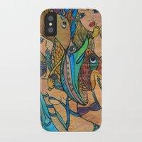 mermaids iPhone & iPod Cases featuring Mermaids by Valerie Parisius