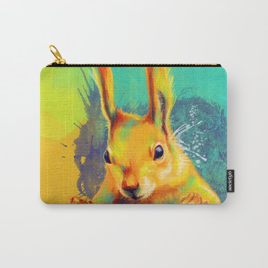Tassel-eared Squirrel Carry-All Pouch