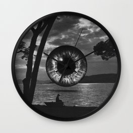 Night landscape Wall Clock