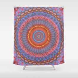 vibrant fractal kaleidoscope Shower Curtain