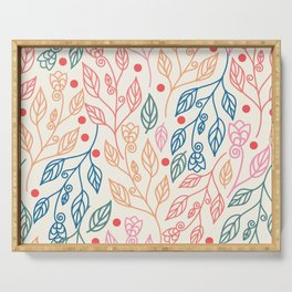 colorful foliage Serving Tray