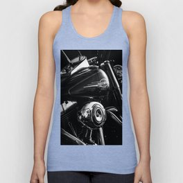 Black and Chrome  Unisex Tank Top