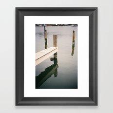 Boat Slip on Duvall Creek Framed Art Print