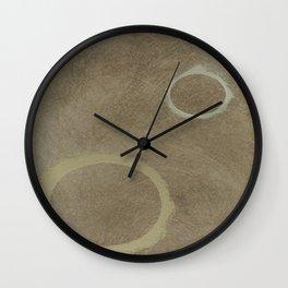 Two Circles - Modern Art - Abstract - Fine Art - California Cool - Popular Painterly Wall Clock