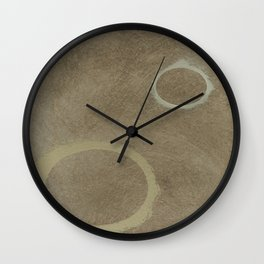 Two Circles - Modern Art - Abstract - California Cool - Popular Painterly - Law Of Attraction Wall Clock