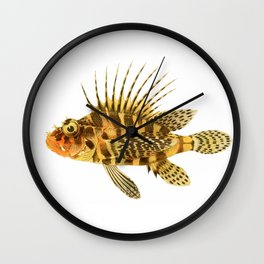 Zebra Lionfish Wall Clock