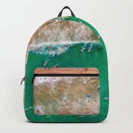 Surfers Paddling Out Backpack
