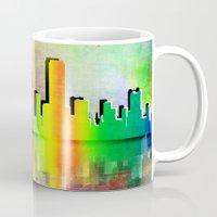 san francisco Mugs featuring San Francisco  by mark ashkenazi