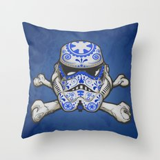 Sugarskull stormtrooper Throw Pillow