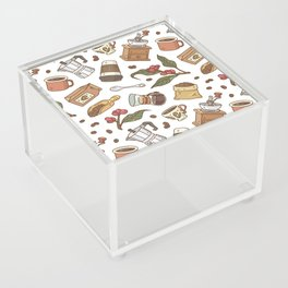 Coffee Break Pattern  Acrylic Box