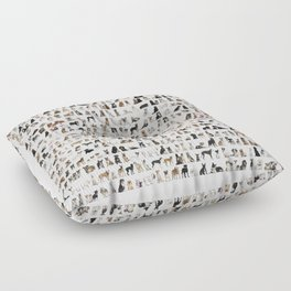 Dogs, Dogs and dogs Floor Pillow