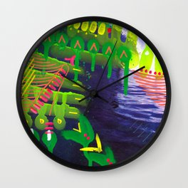 Wave green Wall Clock