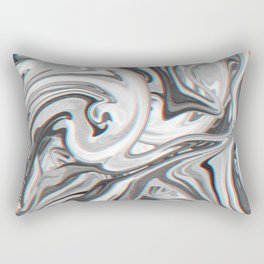 Marble Glitch Pattern Rectangular Pillow