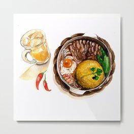 BBQ Chicken rice Metal Print