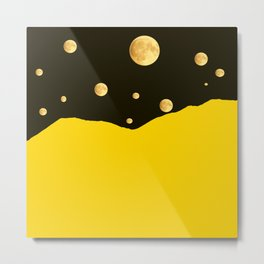 Many moons in the sky #decor #buyart #society6 Metal Print