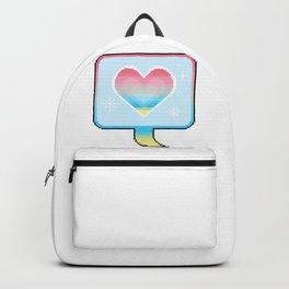 Genderflux Pride Heart Speech Bubble Backpack