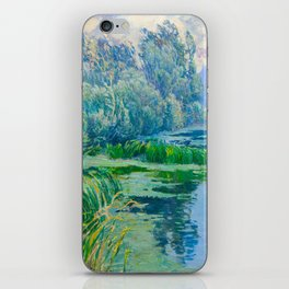 Václav Radimský (1867-1946) At The Confluence Colorful Bright Impressionist Oil Landscape Painting iPhone Skin