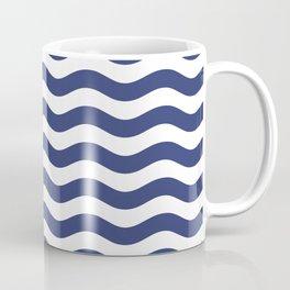 Blue Nautical Waves Coffee Mug