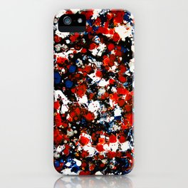 Berlin Stories: Untiled Red & Blue Painting iPhone Case