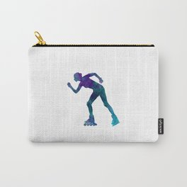 Woman in roller skates 06 in watercolor Carry-All Pouch