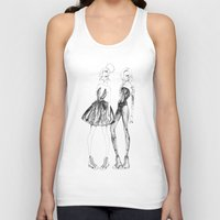 converse Tank Tops featuring Double Converse by Sarah Lewis Designs