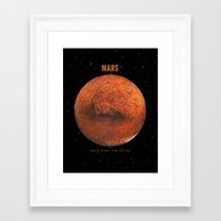 bruno mars Framed Art Prints featuring Mars by Terry Fan