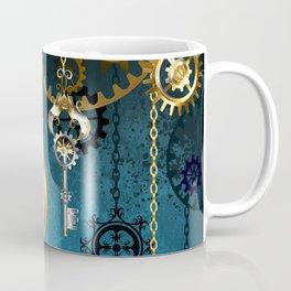 Steampunk Design with Clocks and Gears Coffee Mug