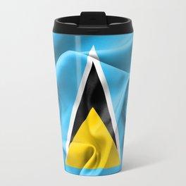 Saint Lucia Flag Travel Mug