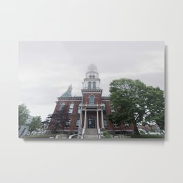 Foggy mrning at City Hall Metal Print