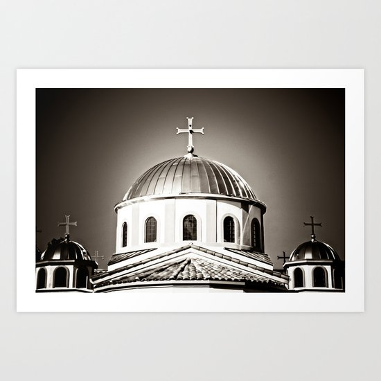 The Domes of St. Andrew Orthodox Church, Riverside, CA Art Print