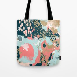 Eisley - Modern fresh abstract painting in bright colors perfect for trendy girls decor college Tote Bag