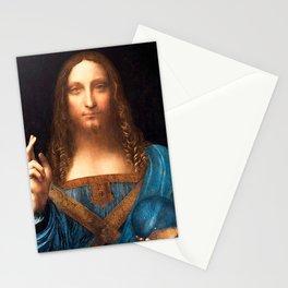 Salvator Mundi by Leonardo da Vinci Stationery Cards