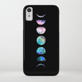 Peacock Opal Moon Cycle iPhone Case